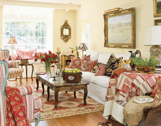 French Country Cottage Living Room: Heir And Space: Keep It Simple