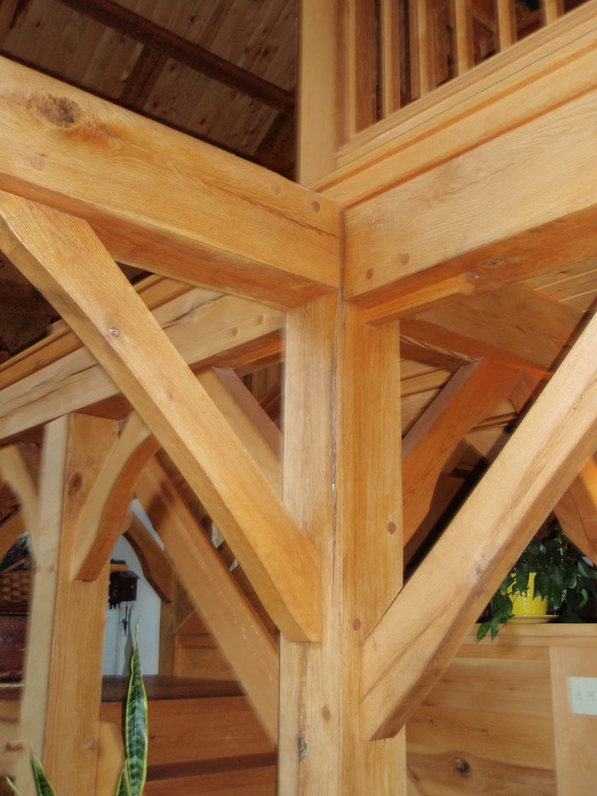 Wood Beam Construction ~ Michael s timber framing chapter first floor