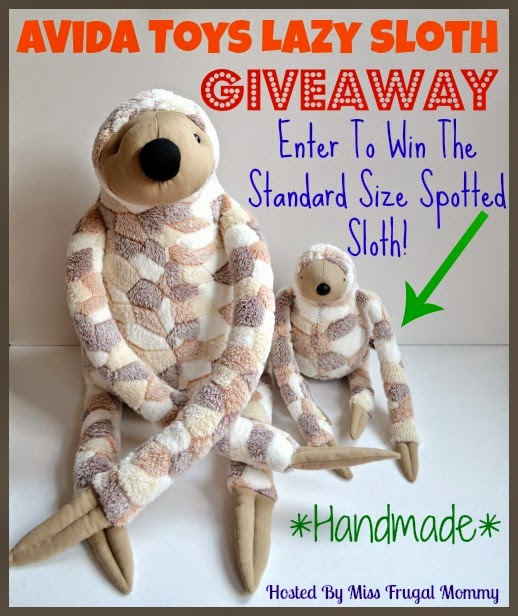 AVida Toys Lazy Spotted Sloth Giveaway