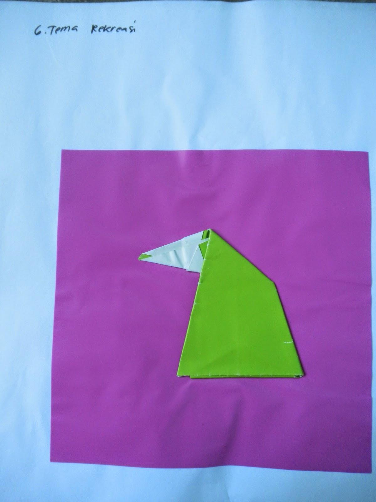 contoh origami (melipat kertas) untuk PAUD berdasarkan ...