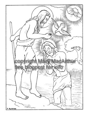 Luminous Mysteries Coloring Sheets