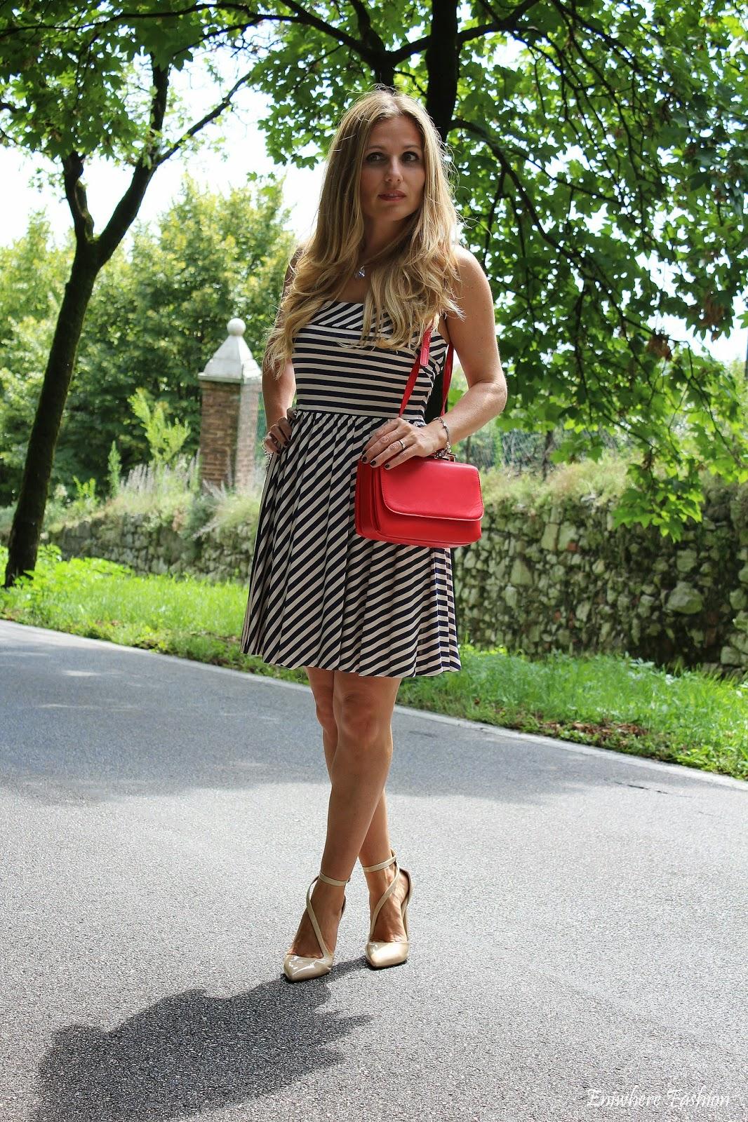 Eniwhere Fashion - striped dress - Mango .mini bag