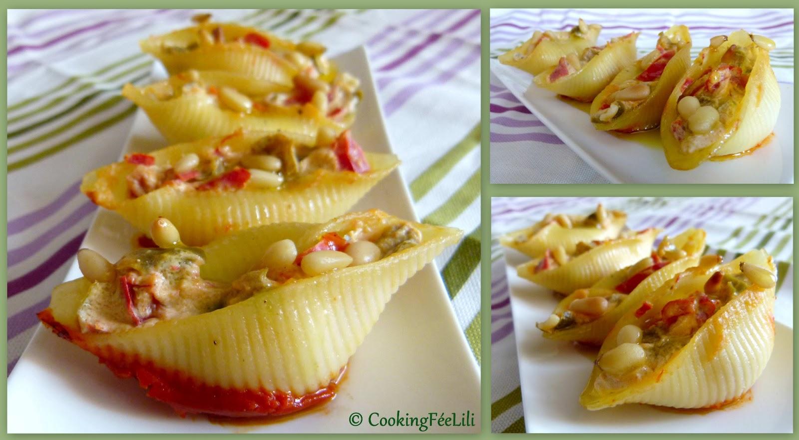cooking f 233 e lili conchiglie aux poivrons brocciu et pignons de pin