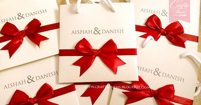 Wedding Gift Card Malaysia : Wedding Card Malaysia Crafty Farms Handmade : Modern Red Bow Paper ...