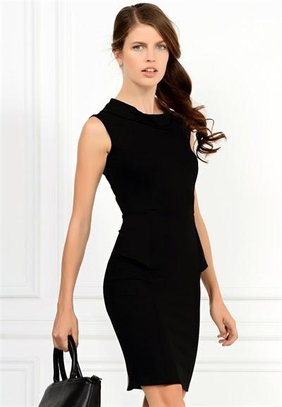 kolsuz elbise, dar elbise, siyah elbise, 2015 elbise modelleri, adil ışık elbise