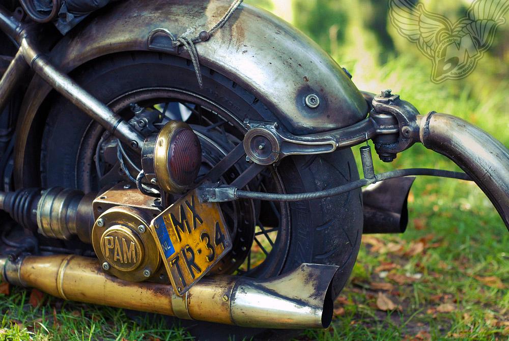 custom volkswagen motorcycle - rear tire and hitch | fotoduda