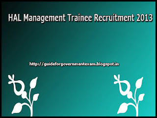 HAL Management Trainee Recruitment 2013