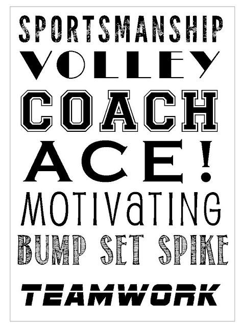 Volleyball Subway Art printable