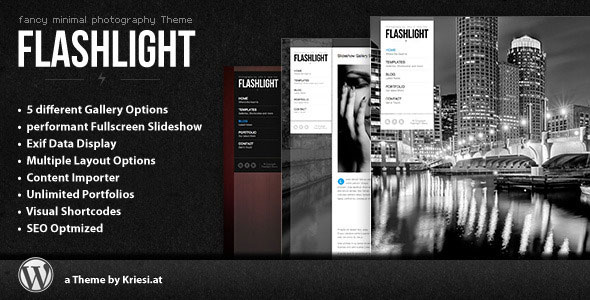 Image for Flashlight – Fullscreen Background Portfolio Theme by ThemeForest
