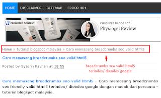 Cara memasang breadcrumbs seo valid html5