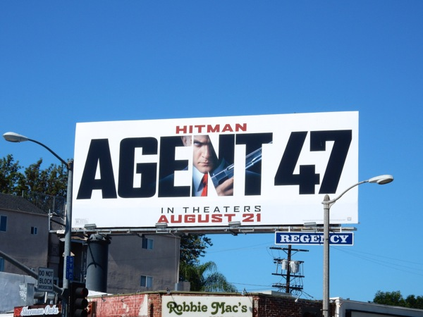 Hitman Agent 47 movie billboard
