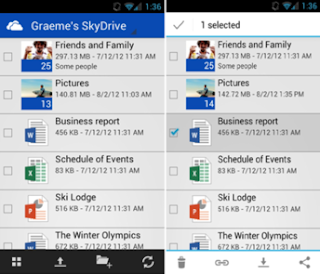SkyDrive app for Android