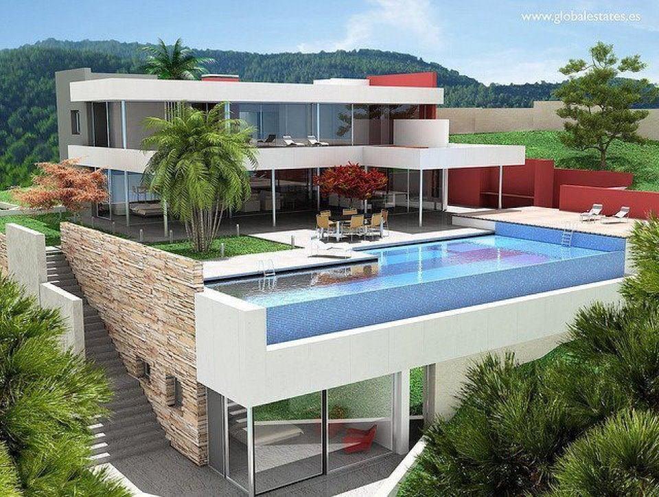 Construindo minha casa clean piscina de concreto vinil for In casa piscina