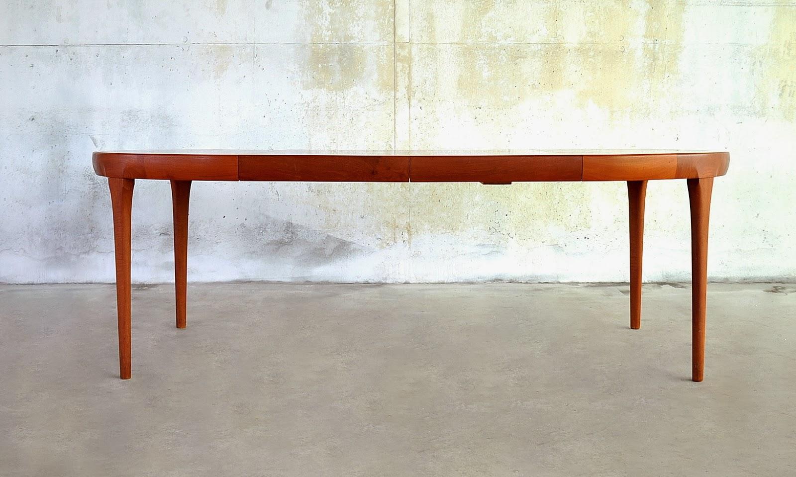 SELECT MODERN Ib Kofod Larsen Teak Expandable Dining Room Table