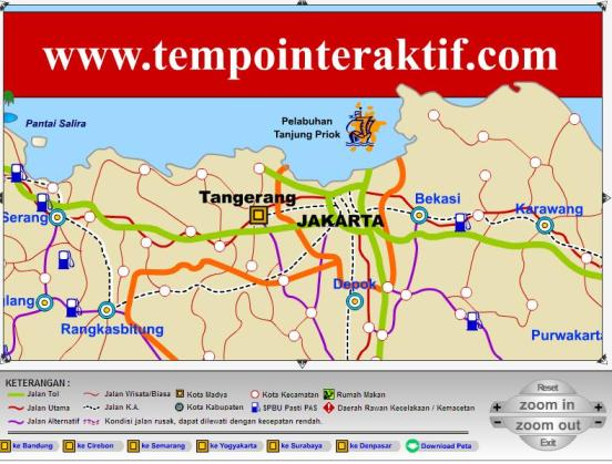 Download Peta Jalur Mudik Lebaran 2012