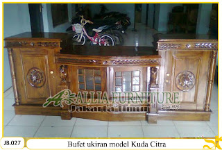 Buffet kayu jati ukiran model kuda citra