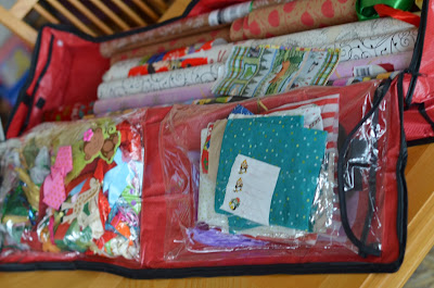giftwrap storage bag