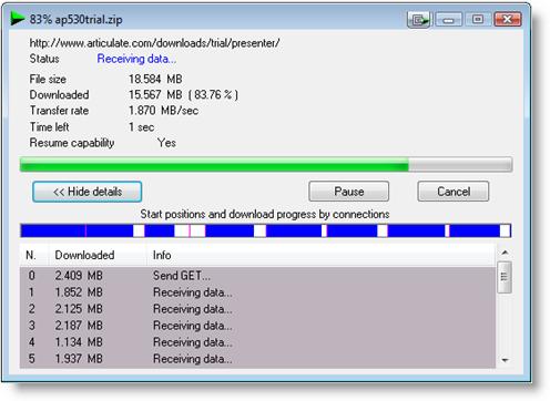 IDM meningkatkan kecepatan download 6.17