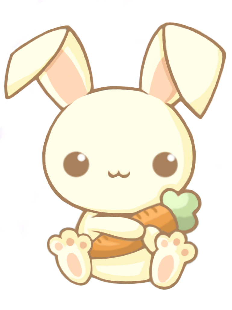 Cute animated bunny background