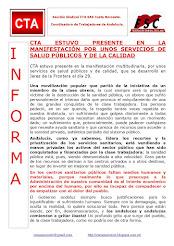 CTA ESTUVO PRESENTE EN LA MANIFESTACIÓN POR UNOS SERVICIOS DE SALUD PÚBLICOS Y DE LA CALIDAD