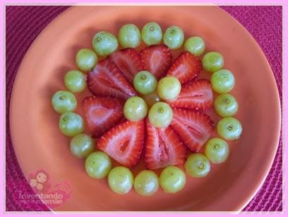 Comida divertida flores de frutas