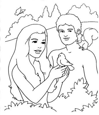 Adam And Eve Bible Coloring Pages For Kids | Colorings.net