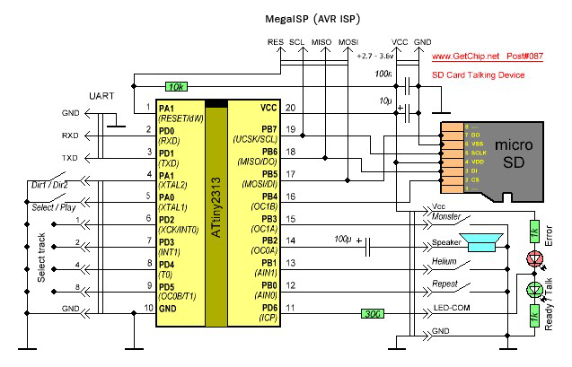 SD Card Schematic http://txyzinfo.blogspot.com/2012/11/AVR-attiny2313-wav-music-player-from-SD-card-microSD-MMC.html