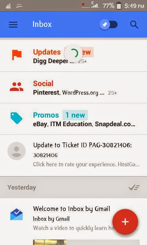 Download Google Inbox better from Google Gmail