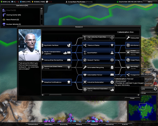 Pandora: First Contact - Technology Tree Screenshot