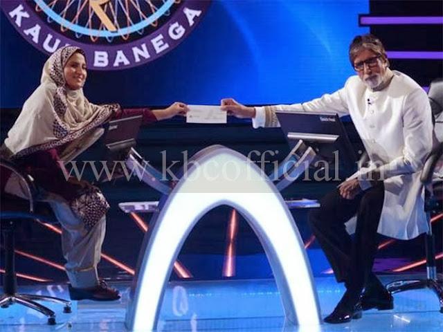 Fatima_with_amitabh Bachchan_kbc