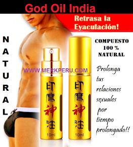 God Oil India, spray prolongador