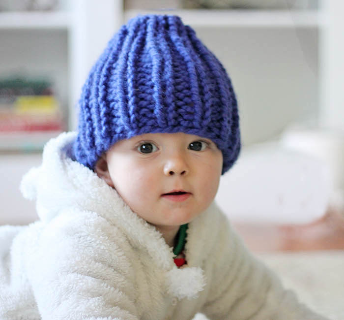 Knitting Pattern For Toddlers Beanie : Easy Baby Beanie Knitting Pattern - Gina Michele