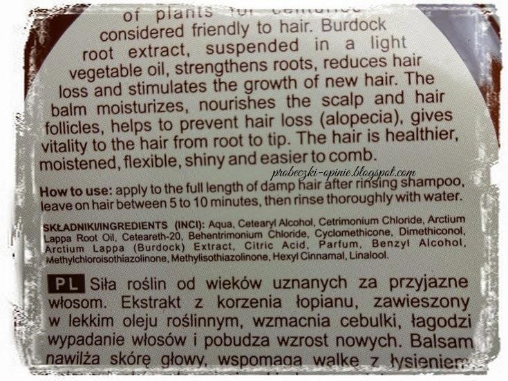 Balsam, wypadanie włosów, Green Pharmacy
