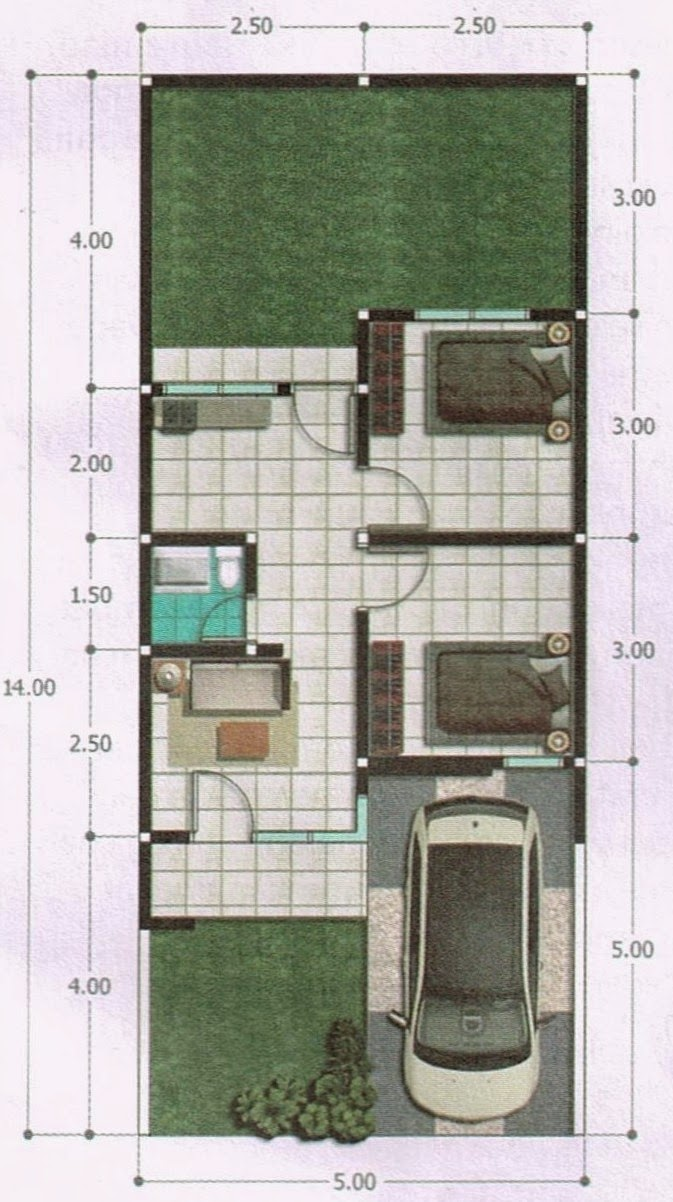 Desain Rumah Minimalis Modern Desain Dan Denah Rumah Dengan Luas