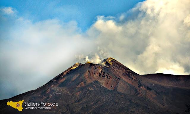 Luftaufnahme Hauptkrater Vulkan Ätna