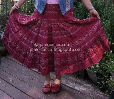 Pink Calico: Flouncy Skirt