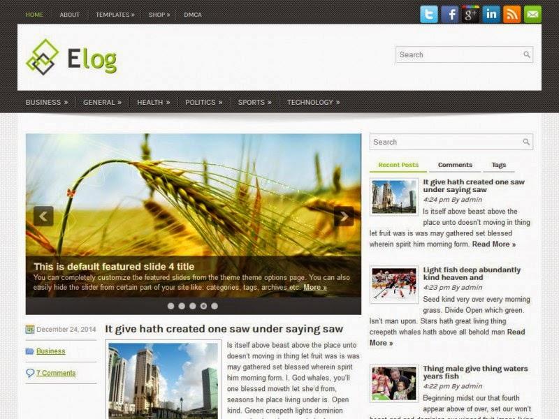 Elog - Free Wordpress Theme