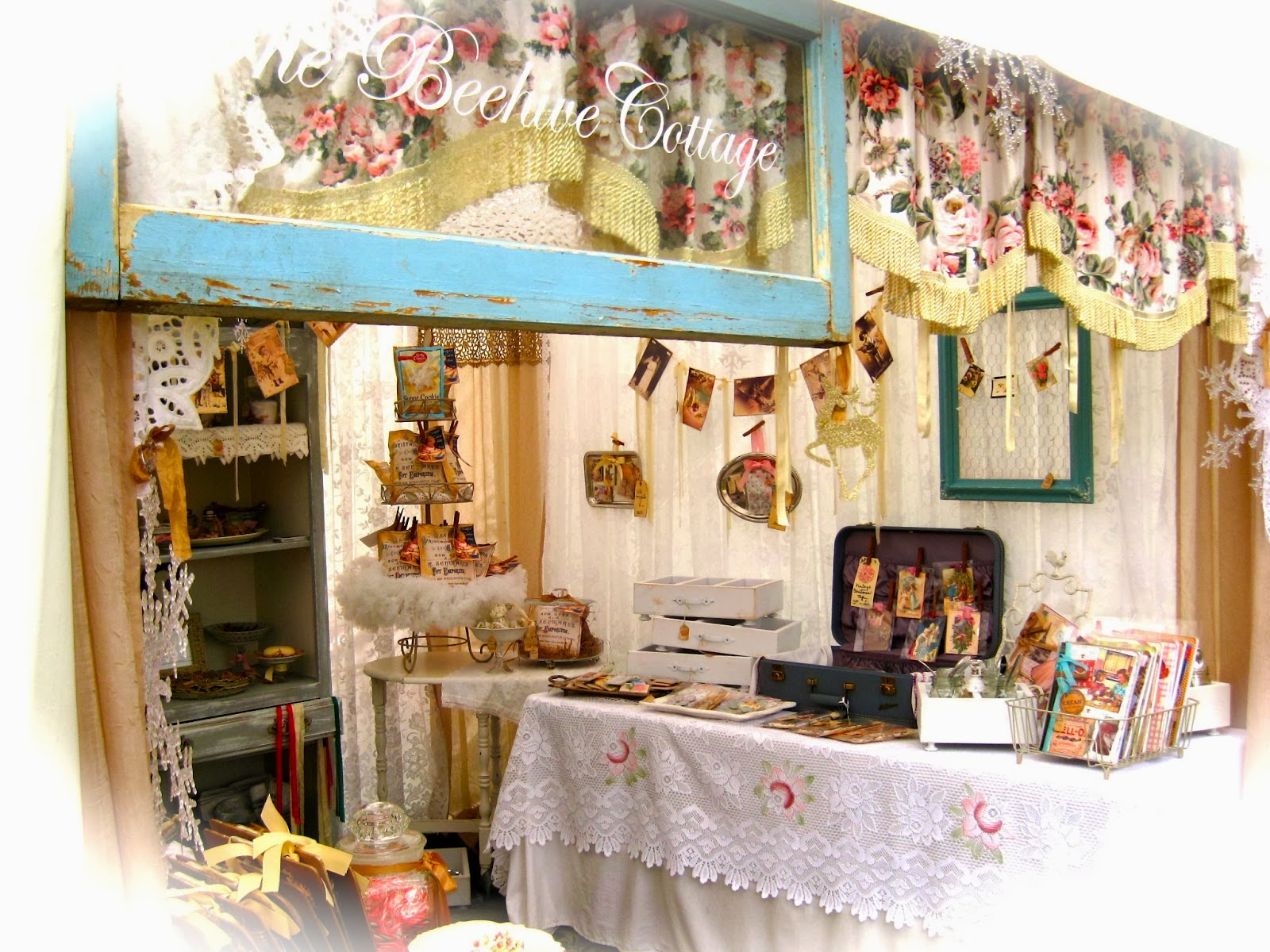 My booth at The Vintage Marketplace