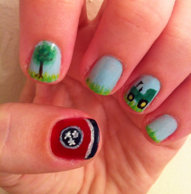 Tennessee Nail Art Images Easy Nail Designs For Beginners Step By Step