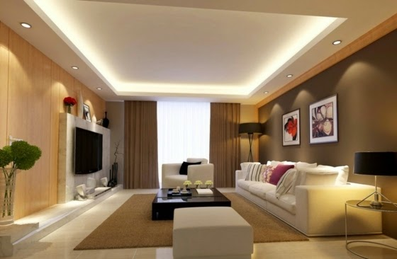 Ceiling Lights For Lounge : Trends of modern lighting design ideas ceiling wall