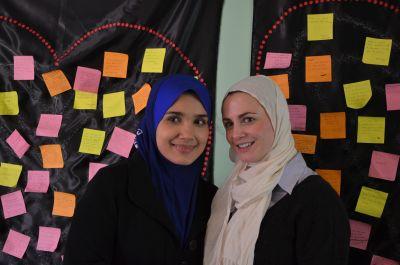 Wardina bertemu dengan Myriam ketika dijemput menjadi penceramah di United Kingdom