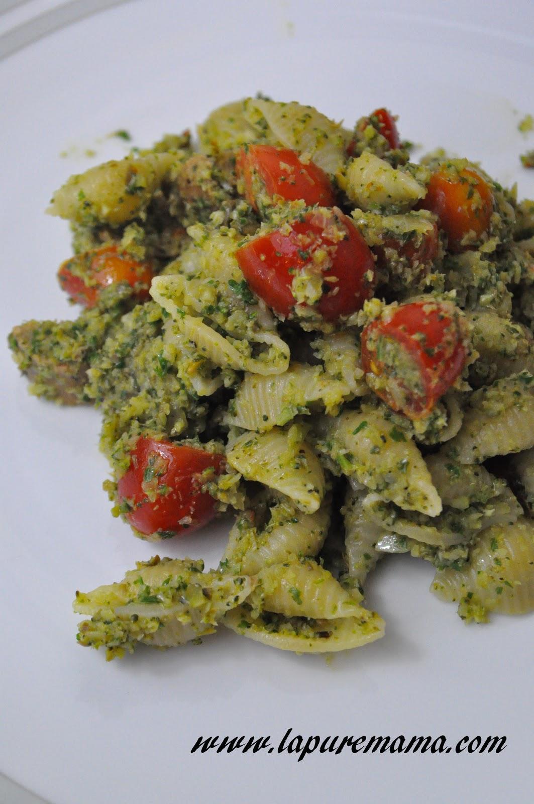 Broccoli Pesto Pasta Recipe — Dishmaps