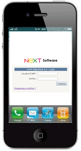 suporte NeXT Help Desk IPhone