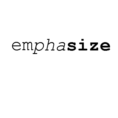 emphasizing words essay But quoting and emphasizing are two different beasts consider instead italic, bold, or underlining as time-honored ways to emphasize words if you don't have those fonts, then stars work well (some people use all-caps, though to me that reads as shouting) so what do quotation marks mean a bunch of related things,.