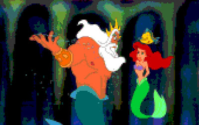 King Triton being his usual crabby self