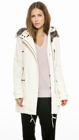 Quilted Parka with Fur Trim by: Vince @Shopbop