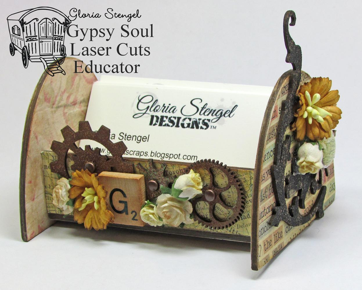 Gypsy Soul Laser Cuts: Business Card Holder by Gloria Stengel