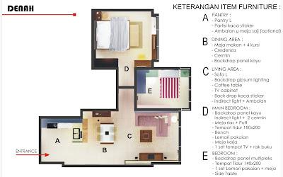 Harga Interior Apartemen 2 Kamar