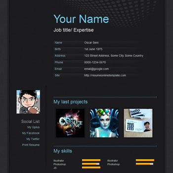 Scroll Carbon blogger template. portfolio blogspot template