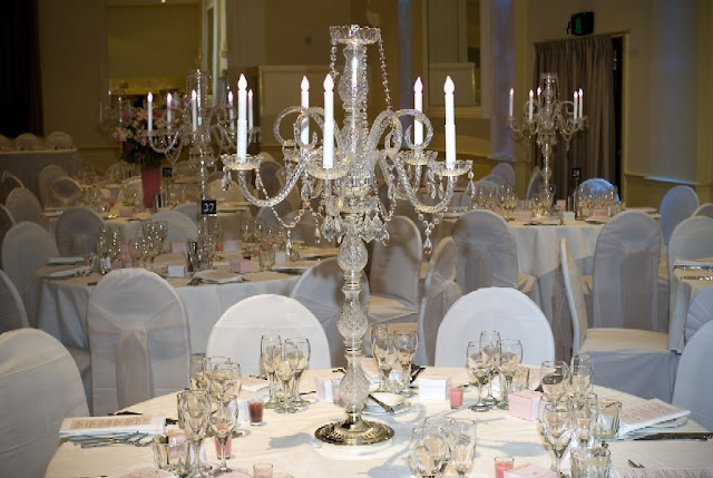 Crystal wedding centerpieces